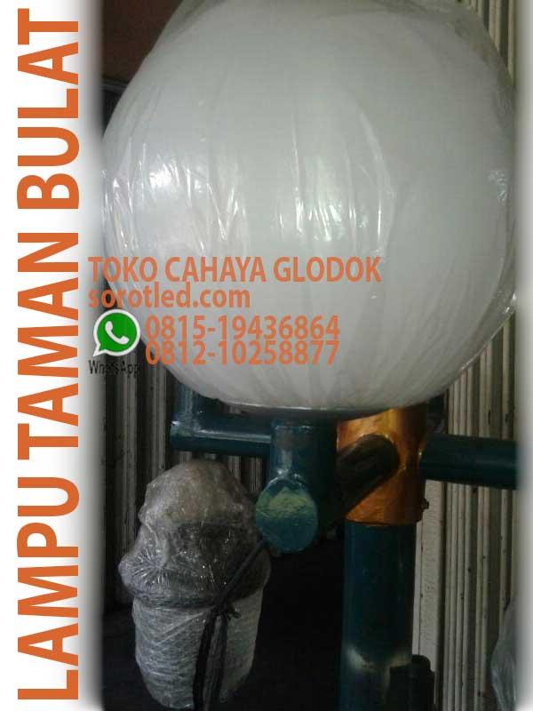 Lampu Taman Bulat Antipecah Polythiline Ukuran O45 Sorotled Com