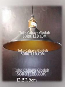 Lampu Gantung Resto Cafe Minimalis Gold Dia27,5cm